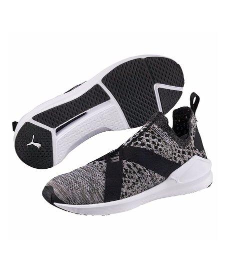 a630e35ef140c7 top view of womens puma fierce evoknit training shoes in puma black puma  white