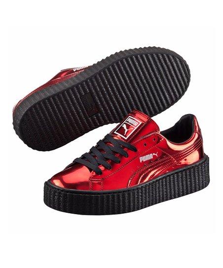 c0dc0a25c30270 PUMA High Risk Red Metallic Basket Platform Sneaker