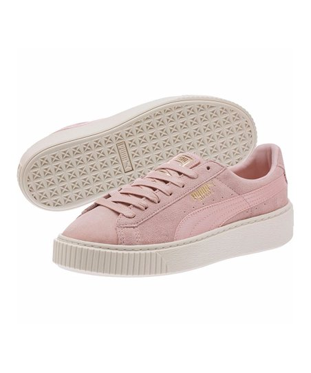 800634bfda47 love this product Silver Pink   Whisper White Platform Mono Satin Suede  Sneaker