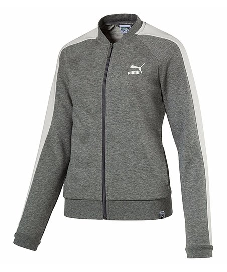 b44cfe3bf0dd love this product Medium Gray Heather Archive Logo T7 Track Jacket