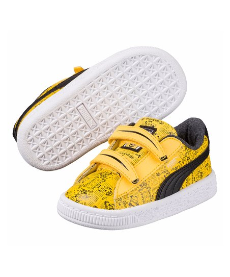 59c19e7d9129 love this product Minion Yellow Minions Basket V Leather Sneaker - Kids