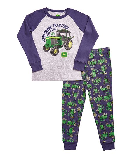 91caf5b19337 John Deere Heather Gray Best in Field Pajama Set - Toddler   Boys ...