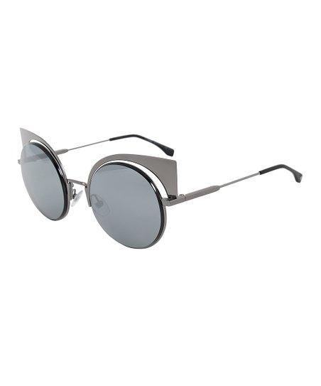 ea363d3f09e Fendi Gunmetal Eyeshine Cat-Eye Sunglasses