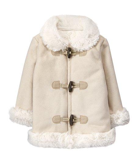 40bcc92d3 Gymboree Cream Faux Fur-Trim Fleece-Lined Coat - Infant