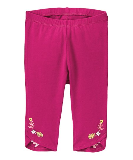 8aa0851347e19 love this product Wine Floral-Embroidery Tulip-Hem Leggings - Infant