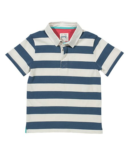 Kite Navy & White Stripe Union Jack Polo - Infant & Boys