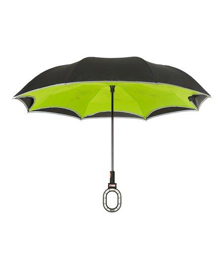 e0876b1ca4dc2 Multibrella Green & Black Smart Umbrella   Zulily