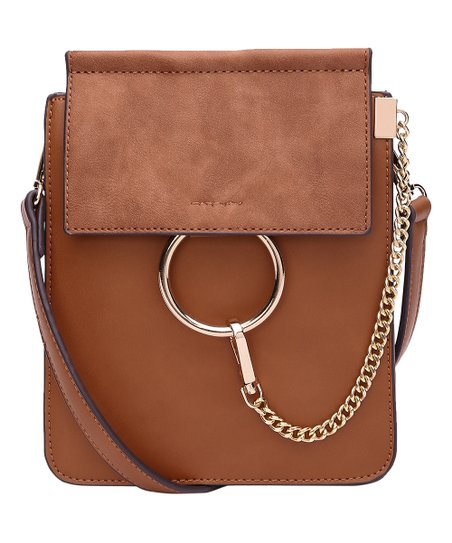 ea3d074d1416 Style Strategy Cognac Ring Handle Crossbody Bag