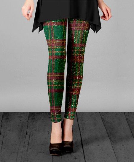 889dc20bb0cc4 love this product Green & Red Plaid Leggings - Plus