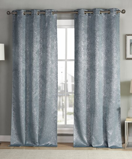 Love This Product Slate Blue Mad Blackout Curtain Panel Set Of Two