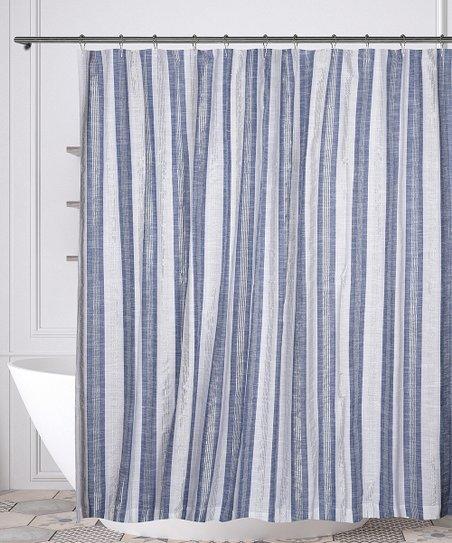 Denim White Pythia Shower Curtain