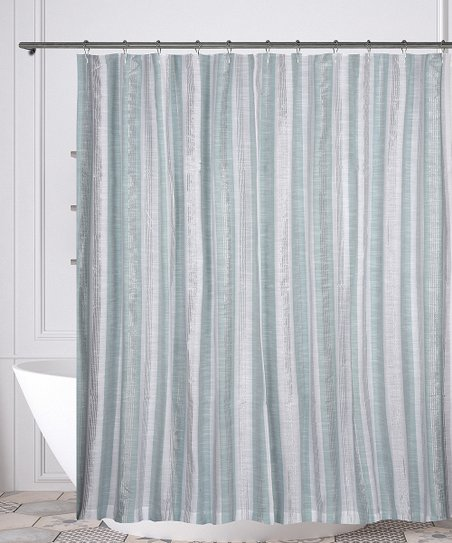 Love This Product Spa Blue White Pythia Shower Curtain