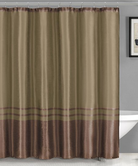 Chocolate Contrast Bottom Sabrina Shower Curtain