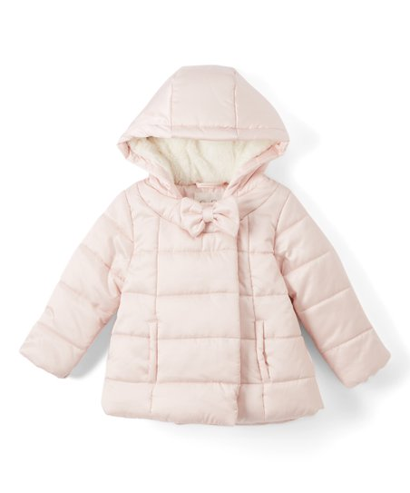 949f8e1dbac2 Jessica Simpson Collection Blush Bow Hooded Puffer Coat - Infant ...