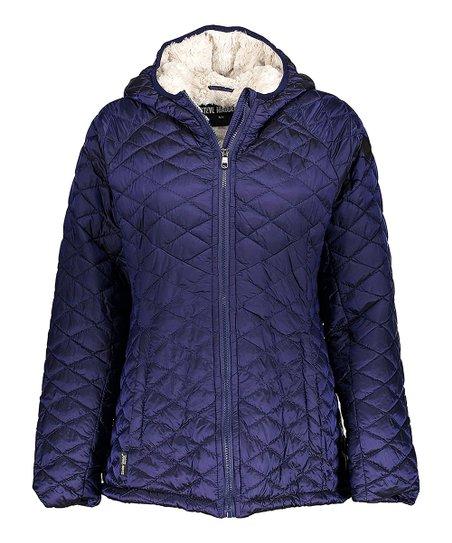 89c042c4c286 Steve Madden Indigo Glacier Shield Puffer Jacket - Plus