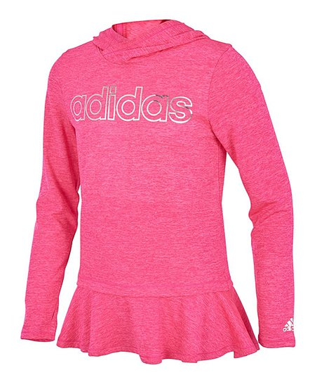 576478b117e2 love this product Neon Pink On the Go Melange Climalite® Hoodie - Girls