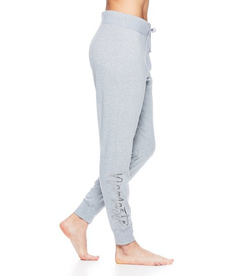 a202a9a16be00 love this product Gray Heather 'Namaste' Joggers - Women