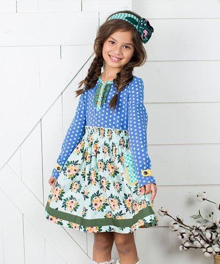 bc889545210 Matilda Jane Clothing Blue Polka Dot Family Heirloom Dress - Toddler ...