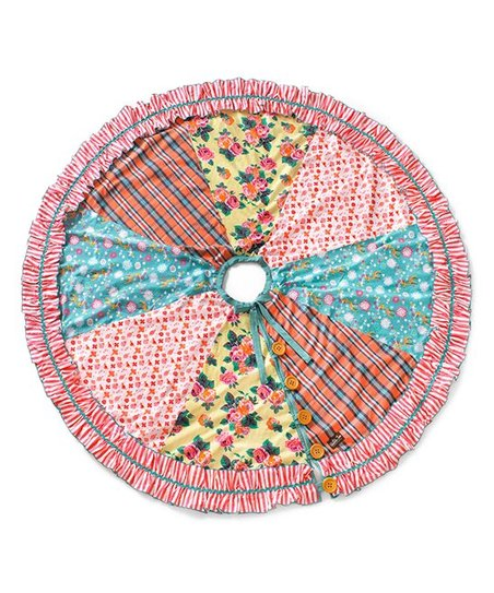 Matilda Jane Clothing Pink Blue Memento Tree Skirt