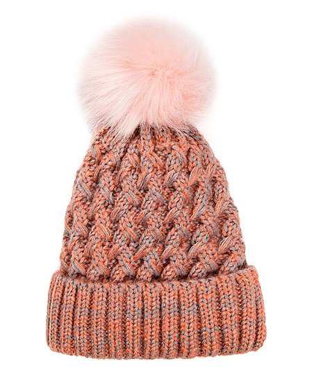 9d6a0657ca9 love this product Pink Fleece-Lined Pom-Pom Beanie - Women