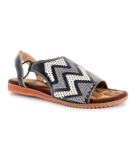acd4385b44b5 Elite by Corkys Black   White Elite Honduras Leather Sandal - Women ...