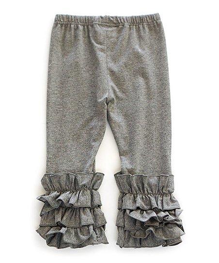 5af123bd5c992 Honeydew Gray Ruffle Leggings - Toddler & Girls