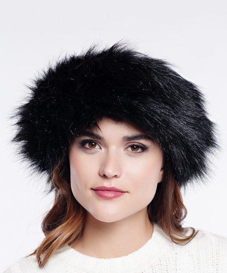 2fcbcd722 Donna Salyers Fabulous-Faux Furs Black Fox Faux Fur Halo | Zulily