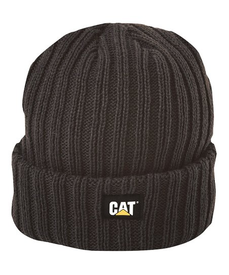 CAT Black Ribbed Beanie  48b044e85e4
