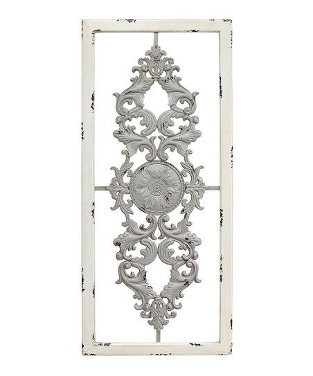 Gray Scroll Panel Wall Décor
