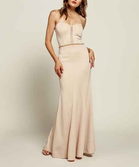 6158ca8afdf6 love this product Dusty Blush Strapless Maxi Dress