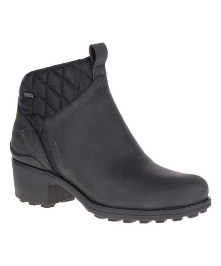 a764c6b185238f Merrell Black Chateau Mid Pull-On Waterproof Leather Boot - Women ...