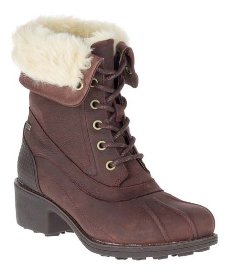 a6f39379a8e Merrell Brunette Chateau Mid Lace Polar Waterproof Leather Boot ...