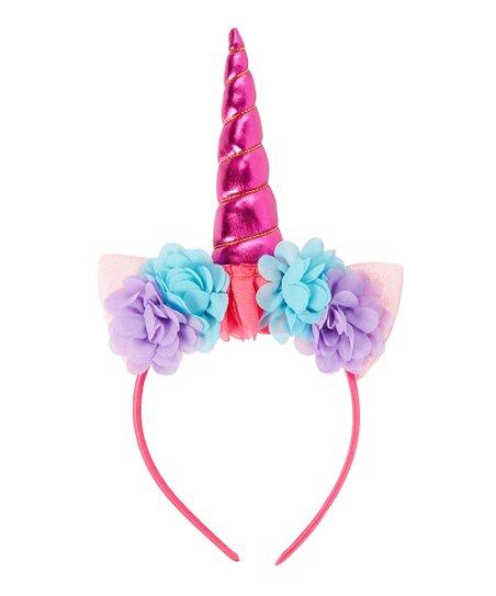 Picki Nicki Hair Bowtique Pink   Purple Floral Unicorn Headband  ace888755e0