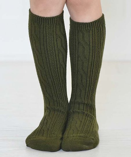 d6cfc6d70 love this product Olive Green Ava Knee-High Socks - Kids