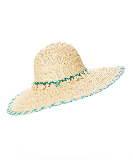 179a49d7d9a love this product Natural Blue Shell-Accent UPF 50+ Floppy Hat