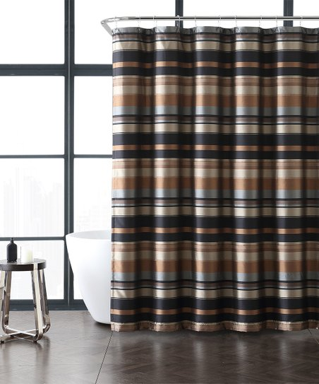 Love This Product Taupe Gold Stripe Madison Shower Curtain