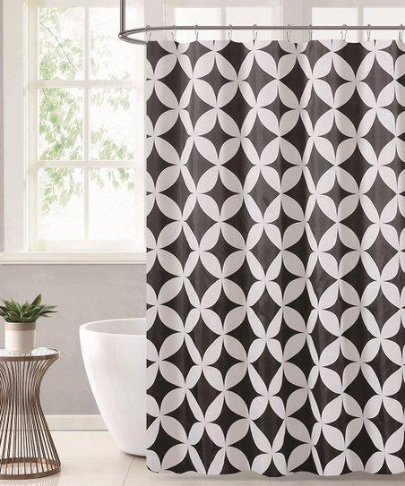 Black Ivory Diamond Shower Curtain