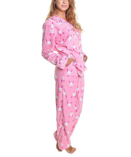 2f98588b7 love this product Pink Bunny Fleece Pajama Set - Women
