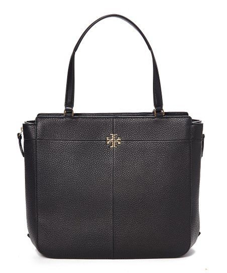 1e93d859048 Tory Burch Black Ivy Side-Zip Leather Tote