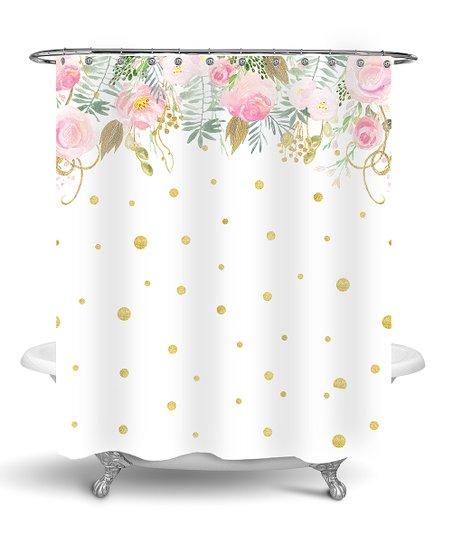Floral Confetti Shower Curtain