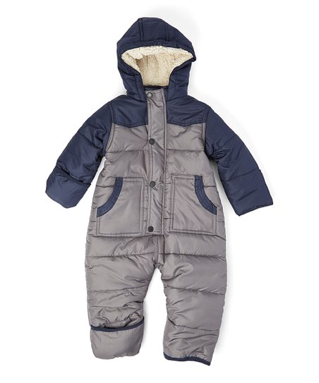 d1a80dbfe Ben Sherman Charcoal Color Block Quilted Bunting - Infant | Zulily
