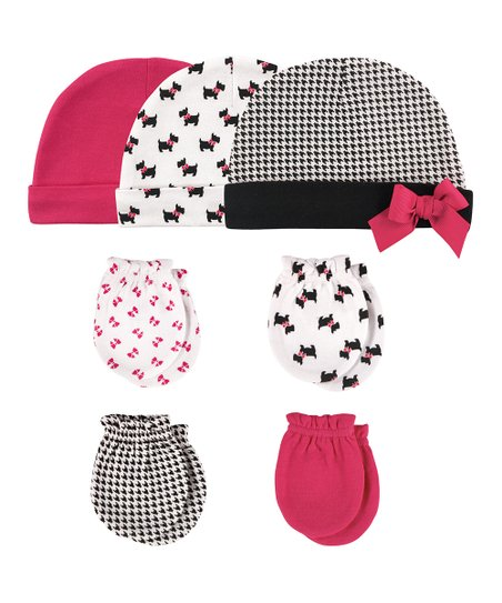 ea893df51ab love this product Black   White Houndstooth Beanie   Mittens Set - Newborn