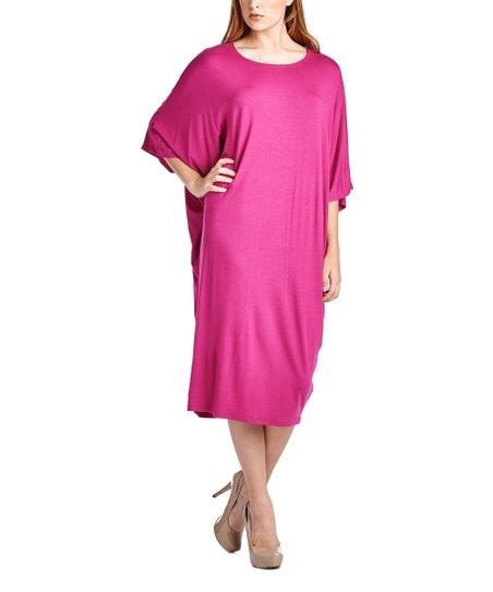 ebbe8a419 love this product Magenta Kimono-Sleeve Midi Dress - Women