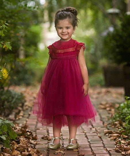 edfa77e39153 Just Couture Sangria Ruffle Magnolia Dress - Toddler & Girls | Zulily