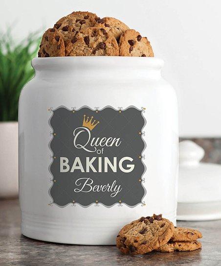 Queen Of Baking Personalized Cookie Jar