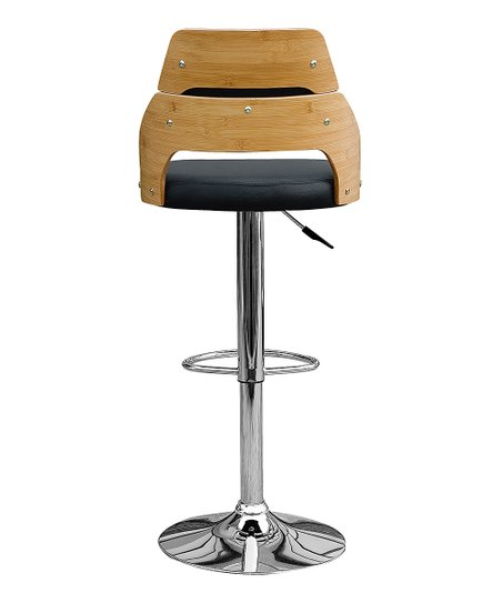 Incredible Gallerie Decor Black Alexa Bamboo Stool Theyellowbook Wood Chair Design Ideas Theyellowbookinfo