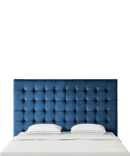 Inspired Home Navy Tufted Fabrizio Velvet Headboard