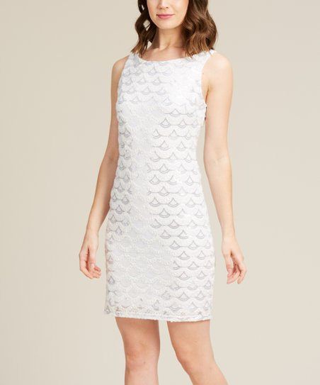 ac27a79e5271 love this product White Sequin Mini Dress - Women