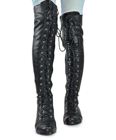 eb25ea24a20 love this product Black Maggy Over-the-Knee Boots - Women