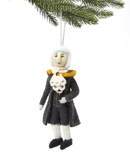 Hamilton Christmas Ornament.The Silk Road Bazaar Alexander Hamilton Handmade Wool